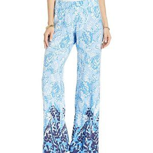 Lilly Pulitzer Bal Harbour Palazzo Pants Blue Per